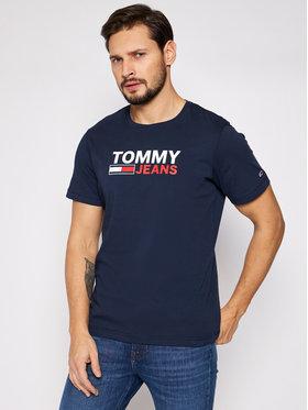 Tommy Jeans Tommy Jeans T-Shirt Tjm Corp Logo Tee DM0DM10214 Granatowy Regular Fit