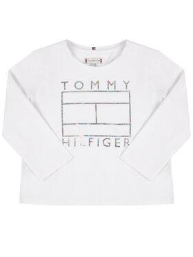 Tommy Hilfiger Tommy Hilfiger Bluzka Foil Flag KG0KG04892 M Biały Regular Fit