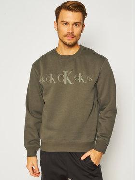 Calvin Klein Jeans Calvin Klein Jeans Mikina J30J316520 Zelená Regular Fit
