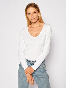 Tommy Jeans Tommy Jeans Μπλουζάκι Embroidery DW0DW09101 Λευκό Regular Fit