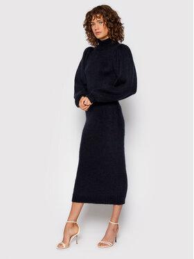 ROTATE ROTATE Sukienka dzianinowa Belinda Dress RT697 Granatowy Regular Fit