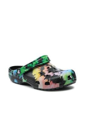 Crocs Crocs Papucs Classic Tie Dye Graphic Clog 205453 Fekete