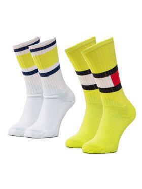 TOMMY HILFIGER TOMMY HILFIGER Set di 2 paia di calzini lunghi da bambini 394020001 Giallo