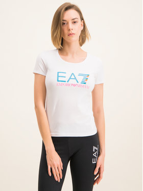 EA7 Emporio Armani EA7 Emporio Armani Тишърт 3HTT31 TJ12Z 1100 Бял Slim Fit