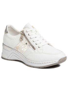 Rieker Rieker Sneakersy N4322-80 Biały