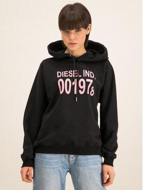 Diesel Diesel Bluză Ang 00SC8N 0IAJH Negru Regular Fit