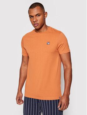 Fila Fila T-Shirt Samuru 688567 Brązowy Regular Fit