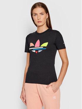 adidas adidas Marškinėliai adicolor Shattered Trefoil Tee H22859 Juoda Regular Fit