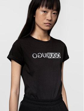 Hugo Hugo T-Shirt The Slim 4 50446054 Černá Slim Fit