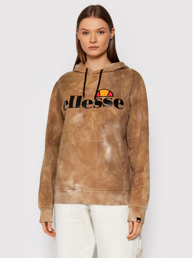 Ellesse Ellesse Majica dugih rukava Torices Tie Dye SGK11287 Smeđa Regular Fit