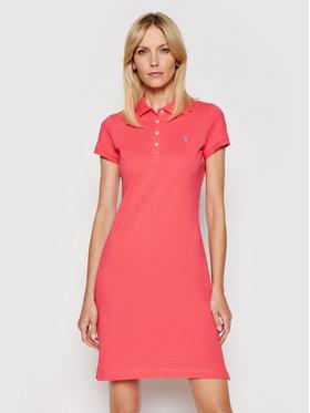 Gant Gant Kleid für den Alltag Original Pique 402300 Rosa Regular Fit