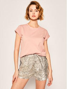 Calvin Klein Calvin Klein Tricou Turn Up Ss Top K20K201982 Roz Regular Fit