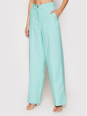 NA-KD NA-KD Текстилни панталони Wide 1018-006843-0618-581 Зелен Relaxed Fit