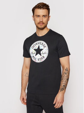 Converse Converse T-Shirt Splatter Paint Chuck Taylor Patch 10021506-A01 Czarny Standard Fit