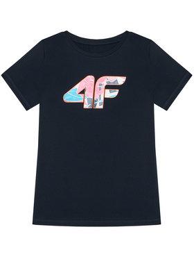 4F 4F T-Shirt HJL21-JTSD015A Tmavomodrá Regular Fit