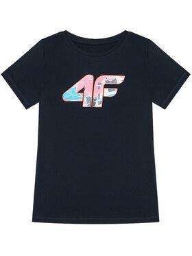 4F 4F Tricou HJL21-JTSD015A Bleumarin Regular Fit