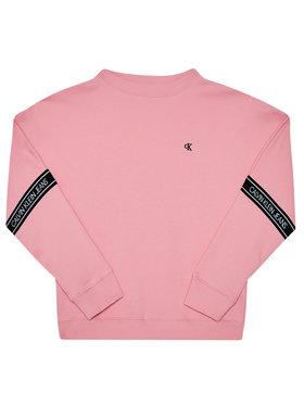 Calvin Klein Jeans Calvin Klein Jeans Pulóver Logo Tape IG0IG00580 Rózsaszín Regular Fit
