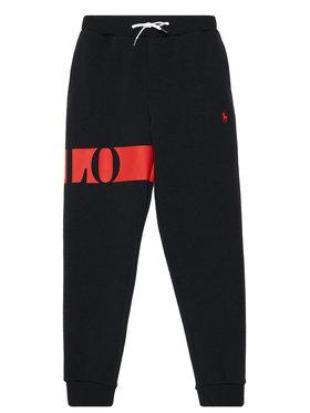 Polo Ralph Lauren Polo Ralph Lauren Παντελόνι φόρμας Double Knt Cvc 323836645001 Μαύρο Regular Fit