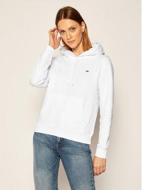 Tommy Jeans Tommy Jeans Bluza Fleece Hoodie DW0DW09228 Biały Regular Fit