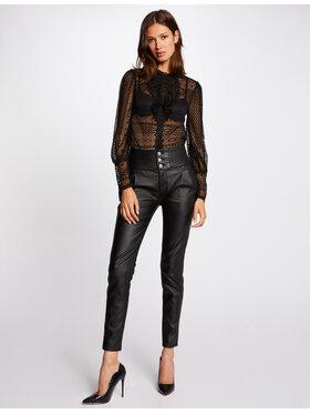 Morgan Morgan Spodnie z imitacji skóry 212-PRINCE Czarny Slim Fit