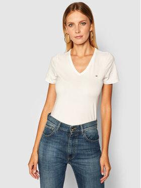 Tommy Jeans Tommy Jeans T-Shirt Tjw Skinny Stretch DW0DW09197 Biały Slim Fit