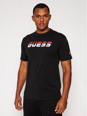 Guess Guess Tričko U0BA47 K6YW1 Čierna Regular Fit