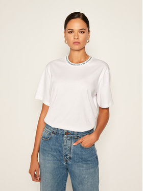 Victoria Victoria Beckham Victoria Victoria Beckham T-Shirt Single 2320JTS001762A Biały Regular Fit