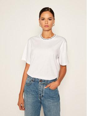 Victoria Victoria Beckham Victoria Victoria Beckham T-Shirt Single 2320JTS001762A Weiß Regular Fit