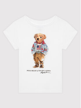 Polo Ralph Lauren Polo Ralph Lauren T-Shirt Bear 312850649001 Bílá Regular Fit