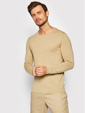 Selected Homme Selected Homme Πουλόβερ Rome 16079774 Μπεζ Regular Fit