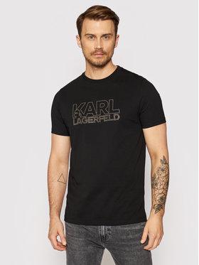 KARL LAGERFELD KARL LAGERFELD T-shirt 755084 511225 Crna Regular Fit