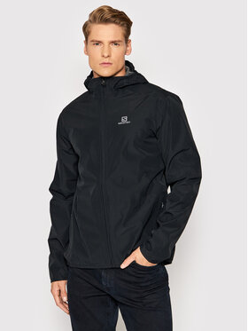 Salomon Salomon Nepremokavá bunda Essential LC1790400 Čierna Regular Fit