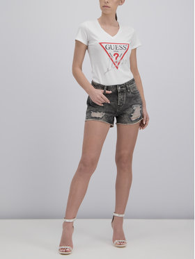 Guess Guess T-Shirt W92I59 K75R0 Biały Slim Fit
