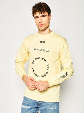 Vans Vans Sweatshirt Distortion VN0A49QLYKA1 Jaune Classic Fit
