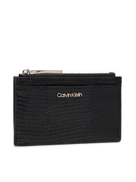 Calvin Klein Calvin Klein Kreditinių kortelių dėklas Ck Must Cardholer Lg Lizard K60K608632 Juoda