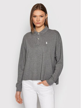 Polo Ralph Lauren Polo Ralph Lauren Polo Lsl 211844785003 Szary Cropped Fit