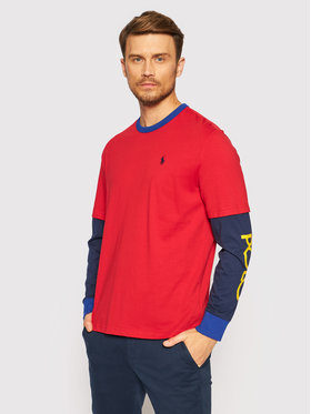 Polo Ralph Lauren Polo Ralph Lauren Marškinėliai ilgomis rankovėmis 710842889001 Raudona Classic Fit
