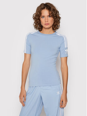 adidas adidas T-Shirt H33545 Modrá Tight Fit