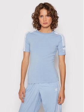 adidas adidas T-Shirt H33545 Niebieski Tight Fit