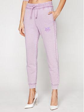Pinko Pinko Spodnie dresowe Carico PE 21 BLK01 1G1638 Y72Z Fioletowy Regular Fit