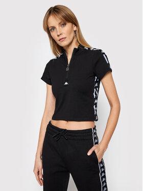 Kappa Kappa T-Shirt Hada 308059 Schwarz Slim Fit