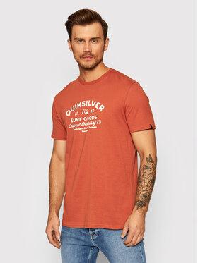 Quiksilver Quiksilver Marškinėliai Closed Tion EQYZT06536 Oranžinė Regular Fit