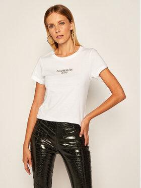 Calvin Klein Jeans Calvin Klein Jeans Tričko J20J214232 Biela Regular Fit