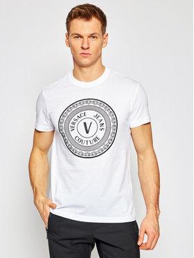 Versace Jeans Couture Versace Jeans Couture Marškinėliai B3GWA7TD Balta Slim Fit