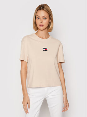 Tommy Jeans Tommy Jeans T-Shirt Tjw Center Badge ABI DW0DW10404 Beżowy Relaxed Fit