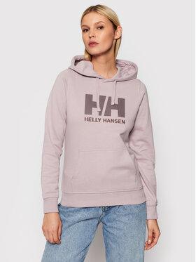 Helly Hansen Helly Hansen Mikina Logo 33978 Fialová Regular Fit