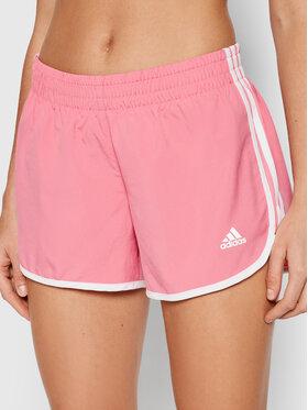 adidas adidas Szorty sportowe Marathon 20 H31064 Różowy Regular Fit