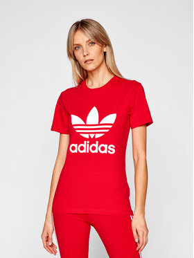 adidas adidas Póló adicolor Classics Trefoil GN2902 Piros Regular Fit