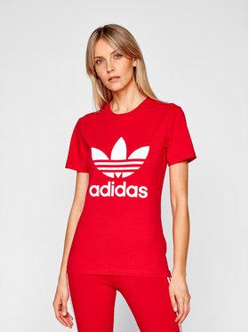 adidas adidas T-shirt adicolor Classics Trefoil GN2902 Rosso Regular Fit