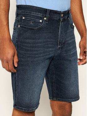 Calvin Klein Jeans Calvin Klein Jeans Džinsiniai šortai J30J314648 Tamsiai mėlyna Slim Fit